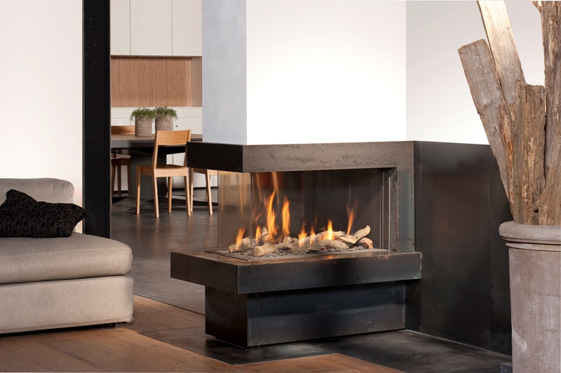 Bellfires View Bell Room Divider Medium Gas Fire